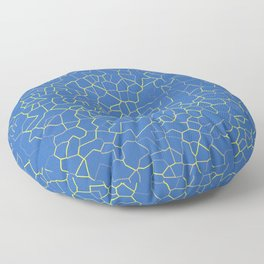 Crackle at the Poolside Floor Pillow