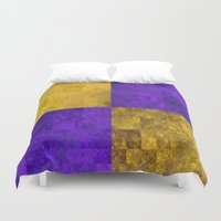 lakers Duvet Covers featuring LA-kers by Ramo