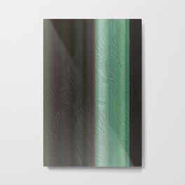 Green Leaf Overlay Metal Print