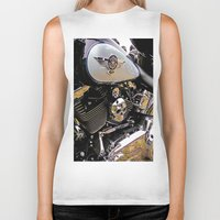 motorbike Biker Tanks featuring  Motorbike  by Scenic View Photography