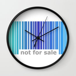 Not For Sale Barcode - Blues Wall Clock