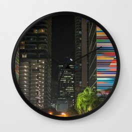 The Colors of Brickell Wall Clock