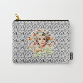 happy girls are the prettiest || Marilyn Carry-All Pouch