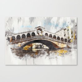 Venice, Rialto Bridge Canvas Print