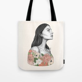 Blushing Blossoms Tote Bag