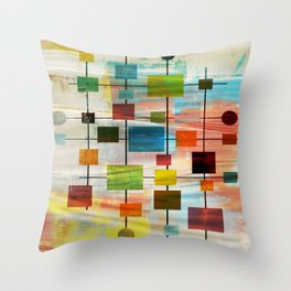 Mid-Century Modern Art 1.3 -  Graffiti Style Throw Pillow