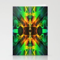 neon Stationery Cards featuring Neon by Assiyam