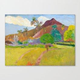 Tahitian Landscape by Paul Gauguin Canvas Print