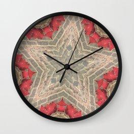 Red Brick Star Wall Clock