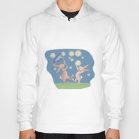 fireflies Hoodies featuring Bunnies Catching Fireflies by Meant for a Moment Designs