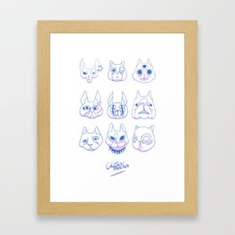 Chatons moches (Ugly Kitties) Framed Art Print