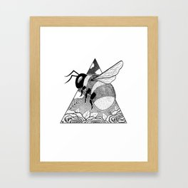 Buzzing Bumblebee Framed Art Print