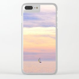Setting Sails Clear iPhone Case