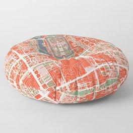 Beijing city map classic Floor Pillow