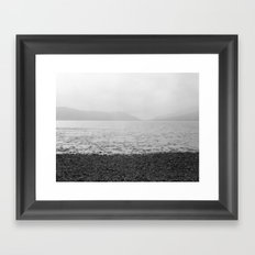 Mountains and the sea Framed Art Print