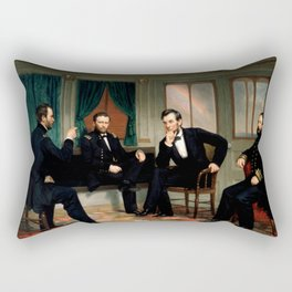 Civil War Union Leaders - The Peacemakers - George P.A. Healy Rectangular Pillow