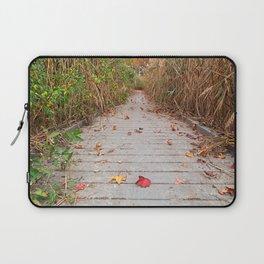 Autumn Marsh Boardwalk Laptop Sleeve