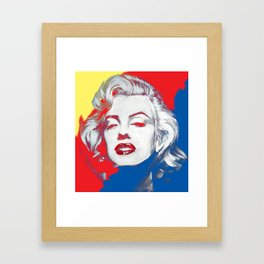 Technicolour Marilyn Framed Art Print
