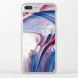 Blue Marble Clear iPhone Case