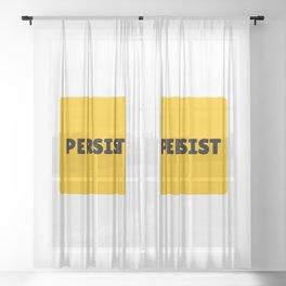 PERSIST Sheer Curtain