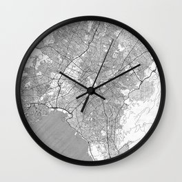Athens Map Line Wall Clock