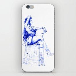 Lady Ultramarine.  Леди Ультрамарин. INK ART. Yury Fadeev iPhone Skin