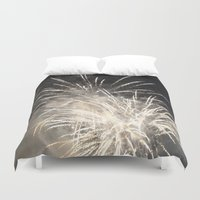 fireworks Duvet Covers featuring Fireworks by jennpar
