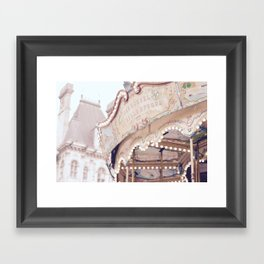 Classic Paris French Carousel Framed Art Print