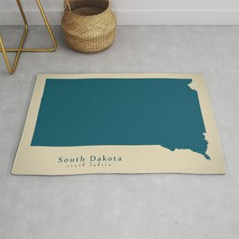 Modern Map - South Dakota state USA Rug
