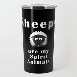 Sheeps are my spirit animals Travel Mug