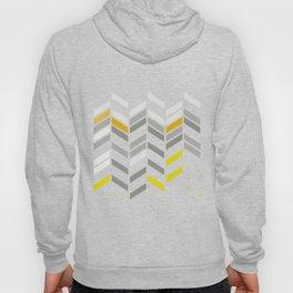 Deconstructed Chevron A – Gray / Yellow / Orange Pattern Print Hoody