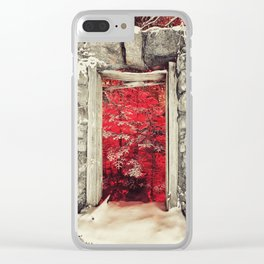 Hellish Warmth Clear iPhone Case