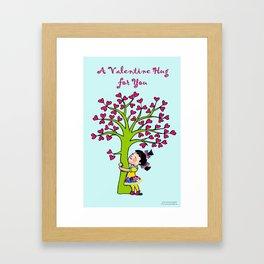 Valentine Hug Framed Art Print