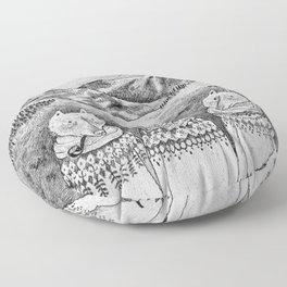 Icelandic foxes Floor Pillow