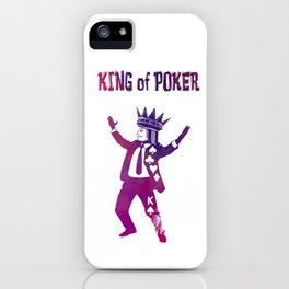 The King of Poker iPhone Case