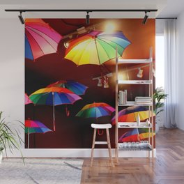 The Rainbow Party Lights Wall Mural