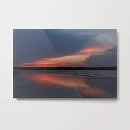 Sunset on the waterway Metal Print