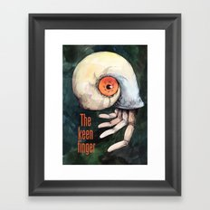 The keen finger Framed Art Print