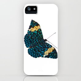 Butterfly on White iPhone Case
