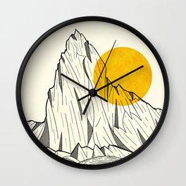 Sun Cliffs Wall Clock