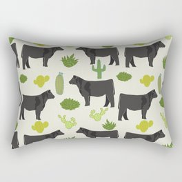 Cattle breed cactus farm gifts homestead art cow illustration Rectangular Pillow