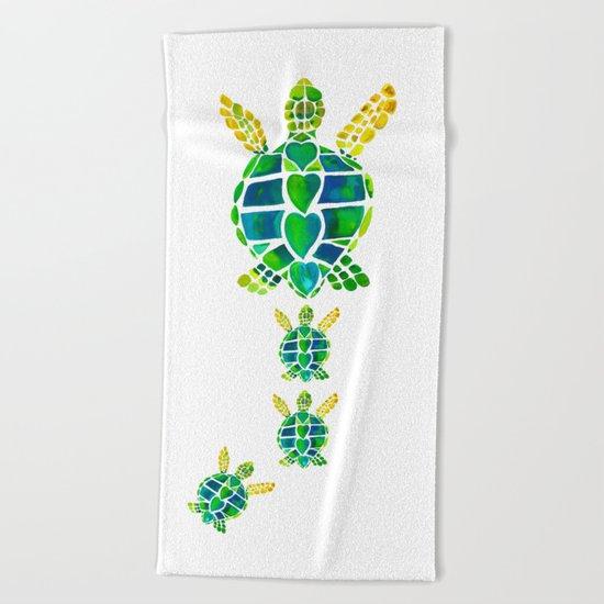 Turtle Love Beach Towel