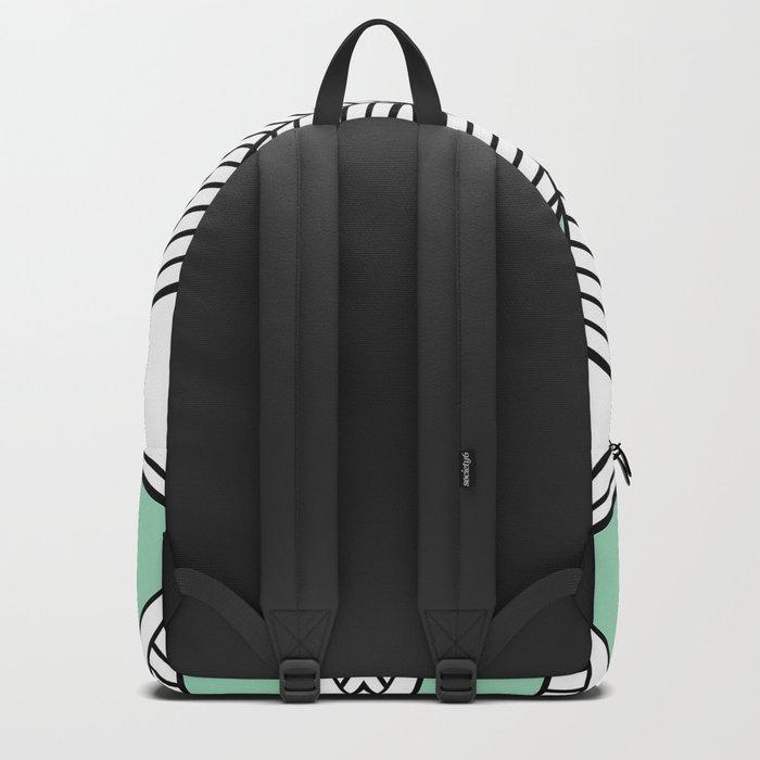 Triangle Tribal Mint Backpack