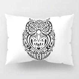 Owl. Decorative Tribal pattern. Ethnic illustration. Pillow Sham