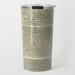 The Rosetta Stone // Parchment Travel Mug