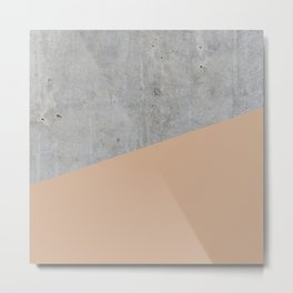 Concrete and hazelnut color Metal Print