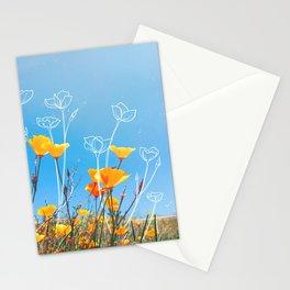 Orange Poppy Field Stationery Cards