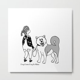 What are you staring at ? Metal Print