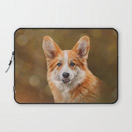 Drawing Dog breed Welsh Corgi Laptop Sleeve