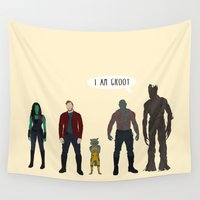 avenger Wall Tapestries featuring GUARDIANS OF THE GALAXY by Kaitlin Smith